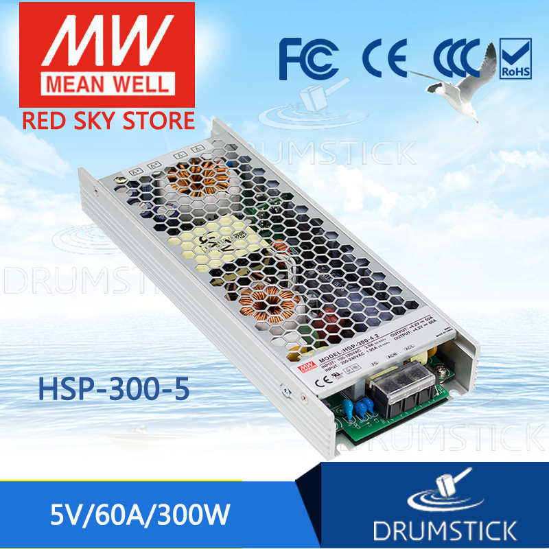 MEAN WELL HSP-300-5 5V 60A meanwell HSP-300 5V 300W Single Output with PFC Function Power Supply все цены