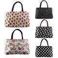 Fashion Korean Version Women's Waterproof Canvas Clutch Bags Tote Shoulder Double Zipper Messenger Bags Hot Selling