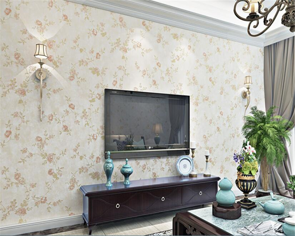 beibehang wallpaper papel de parede hudas beauty New rural rustic three dimensional gold foil non woven wallpaper wall in Wallpapers from Home Improvement