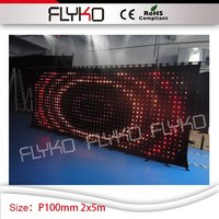 7ft by 17ft high quality stage led backdrop RGB full color P10 video curtain stage screen