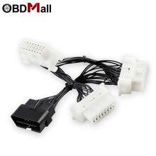 16 Pin OBD2 OBDii OBD 2 Splitter Verlengkabel een Man naar Drie Vrouwelijke Y Kabel OBD2 splitter OBD2 extension kabel voor ELM 327