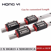 Best Prices 100 Size New HIWIN Linear Guide Rail HGR15 With 4 Pcs Of Linear Block