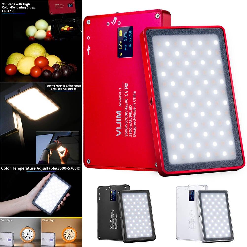 Mini téléphone lumière LED O LED écran 96 perles magnétique en alliage d'aluminium lampe Portable pour Selfie @ JH