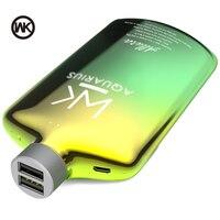 Wk 전원 은행 10000 mah 2 usb 휴대용 충전 bateria externa movil poverbank 10000 mah powerbank 18650 xiaomi iphone huawei