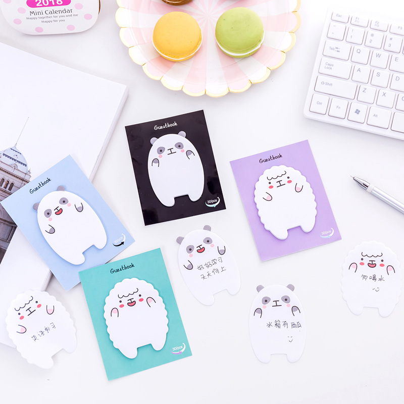 1PCs children like lamb and bear memo pad paper sticky notes post notepad stationery papeleria school supplies