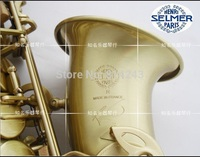 High Quality France Henri Selmer Eb Alto Saxophone Reference 54 Drop E Brass Saxophone Green Ancient