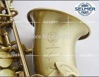 High Quality France Henri Selmer Eb Alto Saxophone Reference 54 Drop E Brass Saxophone Green Ancient