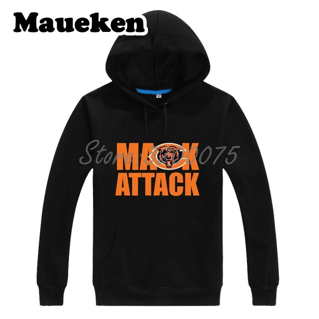 cce9276dfa6 Men Hoodies Khalil Mack 52 Chicago Mack Attack Sweatshirts Hooded Thick  Lace-up for fans gift Autumn Winter W18091207
