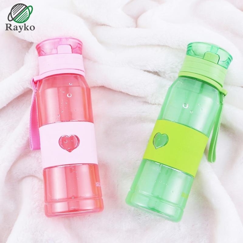 Creativity Bottle Water Sport Plastic Bottle For Water Big Capacity Portable Bottle Straw Fruit Water Bottle GL110