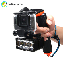 Sport Camera Handheld Water Floating Hand Grip For Gopro Hero 5 Shutter Trigger Diving Buoyancy Stick Adjustable Anti-lost Strap