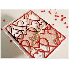 Eastshape Multi Layered Floral Frame Die Cut Heart Metal Cutting Dies For Scrapbooking Embossing Paper Card Stencil