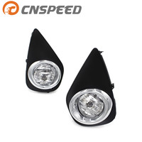 CNSPEED Fog lights for 2015 2016 Toyota Yaris Hatchback 2/4Dr Clear Fog lights Driving Lamps+Switch Driving Lamps YC101064 CL