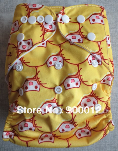 Free Shipping-New Prined Breathable Cloth Diapers Baby Infant Cloth Diaper Waterproof Na ...