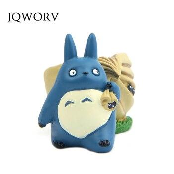 JQWORV креативный Miyazaki Jili cat bean Мини полимерный горшок Синий Шиншилла цветочный горшок Смола DIY кукольные украшения поделки