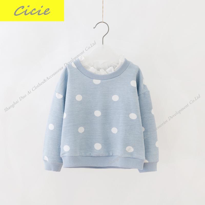 New Arrival Children Long Sleeved Sweater Girl S T Shirt Girls Sweater Dot Print Girl Coat