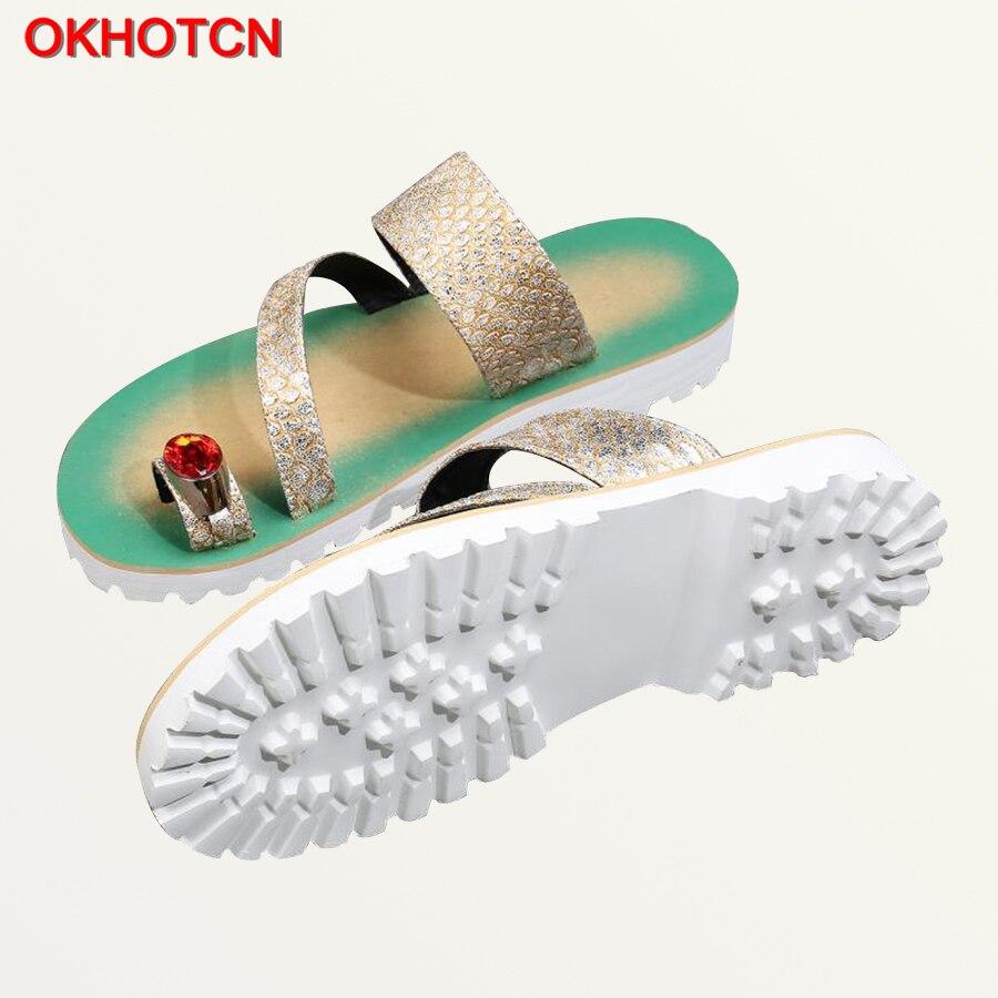 Okhotcn 2018 New Snake Men Sandal Slippers Retro Classic Mens Summer Shoes String Bead Beach Shoes Rubber Non-slip Flip Flops Shoes
