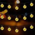 HUSUYUHU SISI Solar Globe Lichterketten 50 LED Kristall Ball Weihnachten Dekoration Licht Wasserdicht Solar Terrasse Lichter für Party-in Lichterketten aus Licht & Beleuchtung bei