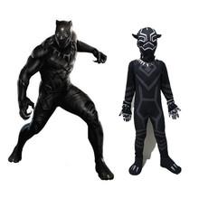 New Boys Black Panther Cosplay Costumes Marvel Movie Birthday Halloween Clothing Suit Party For Kids