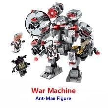 2019 Superheroes Avengers 4 War Machine Buster Building Blocks Compatible With Lego marveles endgame 76124 Ant-Man Figures Toys