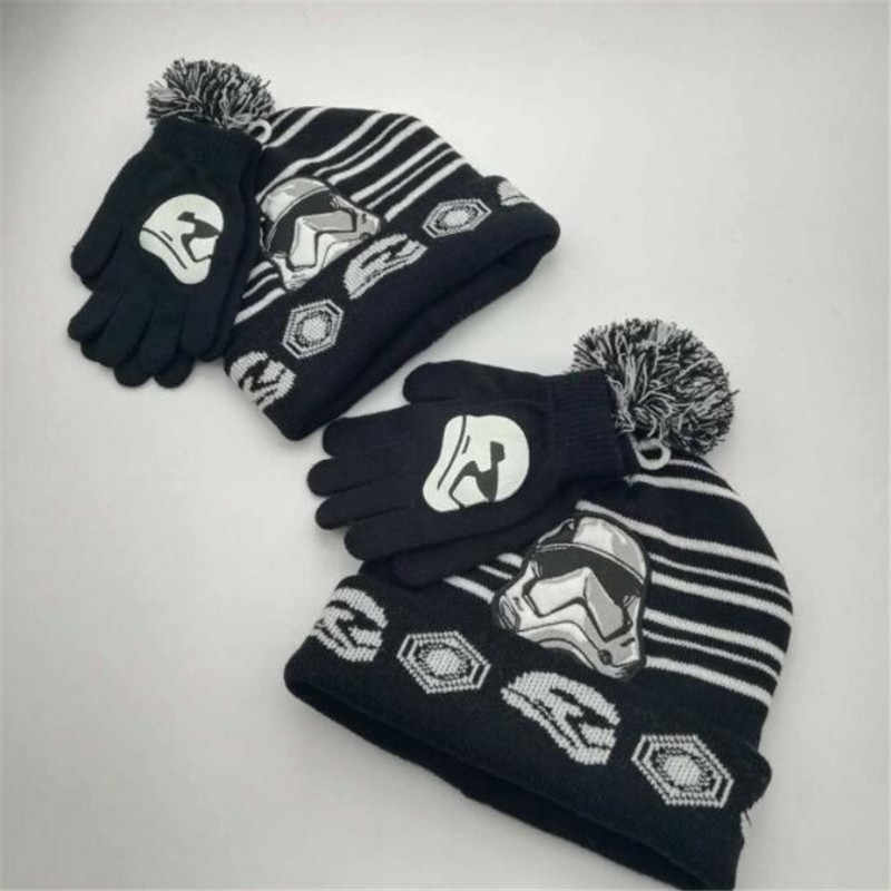 e4f9ad83e924a2 ... Movie Star Wars Darth Vader Cosplay Costume Accessories Keep Warm Hats  Trooper Knitted Hat Children Adults ...