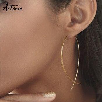 Artsnie золотые металлические геометрические серьги-кольца женские круглые серьги