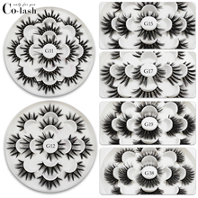 Colash 7 Pairs 25mm Mink Lashes Fluffy Mink Lashes Multipack Handmade Natural Long Volume Fake Lashes Makeup Extension Eyelashes mink keer 7 41