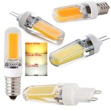 New Hot LED Light 3W Chandelier Lamp Bulb E12/E14/G4/G9 2609 COB Dimmable AC 110V/220V Night Bed WW/CW