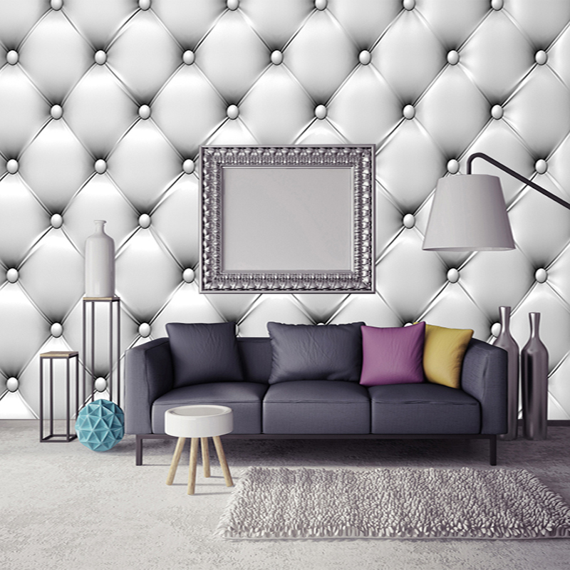 Modern Simple 3D Stereo Soft Pack Mural Wallpaper Fashionable Interior  Design Living Room Bedroom Home Decor
