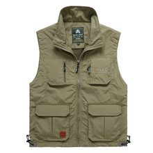 NIANJEEP Outdoor Men's Jacket Sleeveless Clothing for Fishing Travels Vest Men Waistcoat Male Climbing Hiking Hunting Clothes