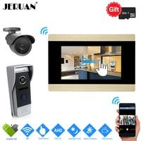 JERUAN WIFI 7 Touch Screen Video Intercom System Kit 720P AHD HD Record Monitor 1 0MP