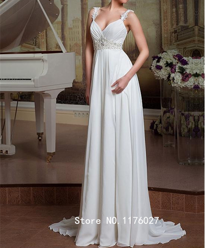 Buy dk bridal spaghetti straps chiffon for Aliexpress robes de mariage