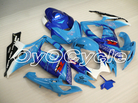 For 06 07 Suzuki GSXR600 GSXR750 K6 K7 GSXR 600 750 Injection Motorcycle ABS Fairing Bodywork Kit 2006 2007 Sky Blue