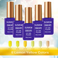 162 Colors Gel Nail Polish UV Gel Polish Long-lasting Soak-off LED UV Gel Color Hot Nail Gel 15ml Nail Art Tools-Yellow color