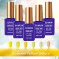 162 Colors Gel Nail Polish UV Gel Polish Long-lasting Soak-off LED UV Gel Color Hot Nail Gel 15ml Nail Art Tools-Yellow color