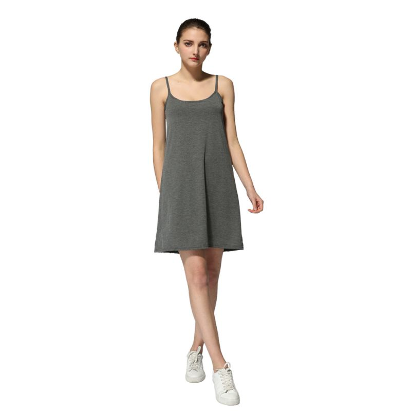Conscientious Modal Breathable Padded Night Dress Women Skin-friendly Elastic Soft Spaghetti Strap Sleepwear Top Quality Home Comfy Nightgowns Fine Craftsmanship Underwear & Sleepwears