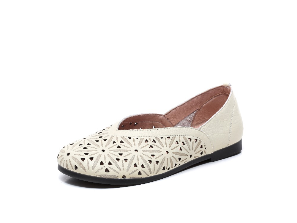Careaymade-Spring pure handmade Genuine leather shoes, a new vintage artist with a round head and a comfortable woman's shoes