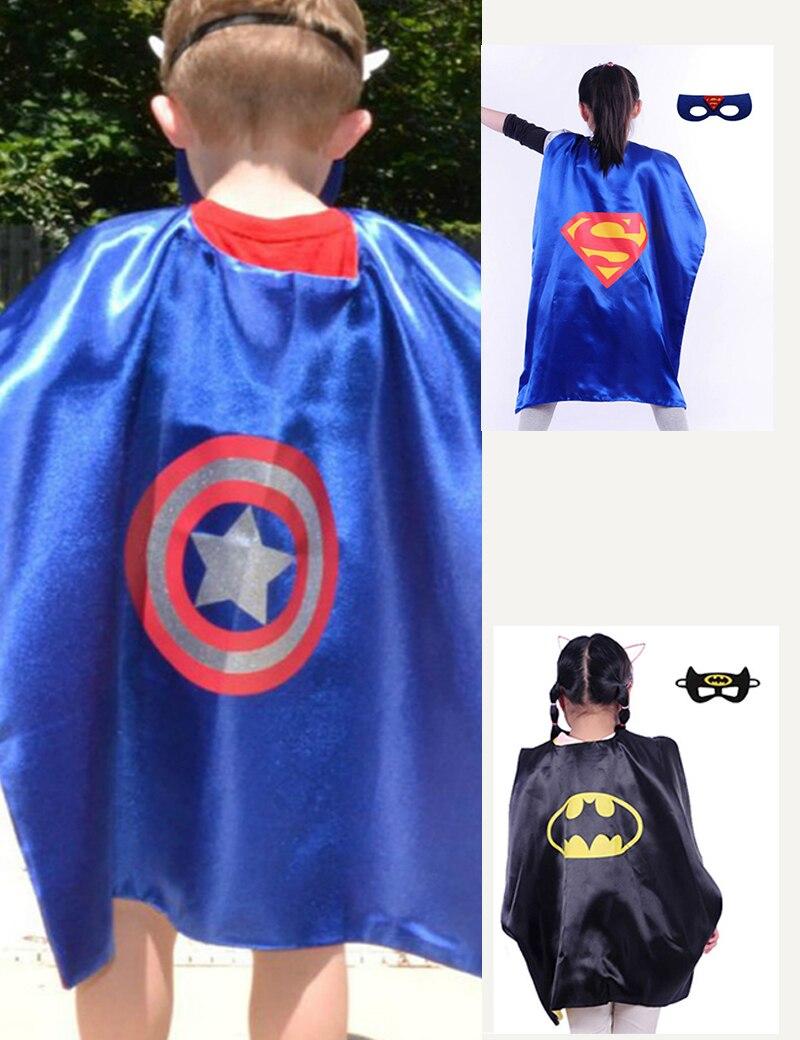 2017 New Superhero <font><b>cape</b></font>(<font><b>1</b></font> <font><b>Cape</b></font> +<font><b>1</b></font> mask) <font><b>Superman</b></font> batman <font><b>spiderman</b></font> superhero costume kids Halloween party costumes for Christmas
