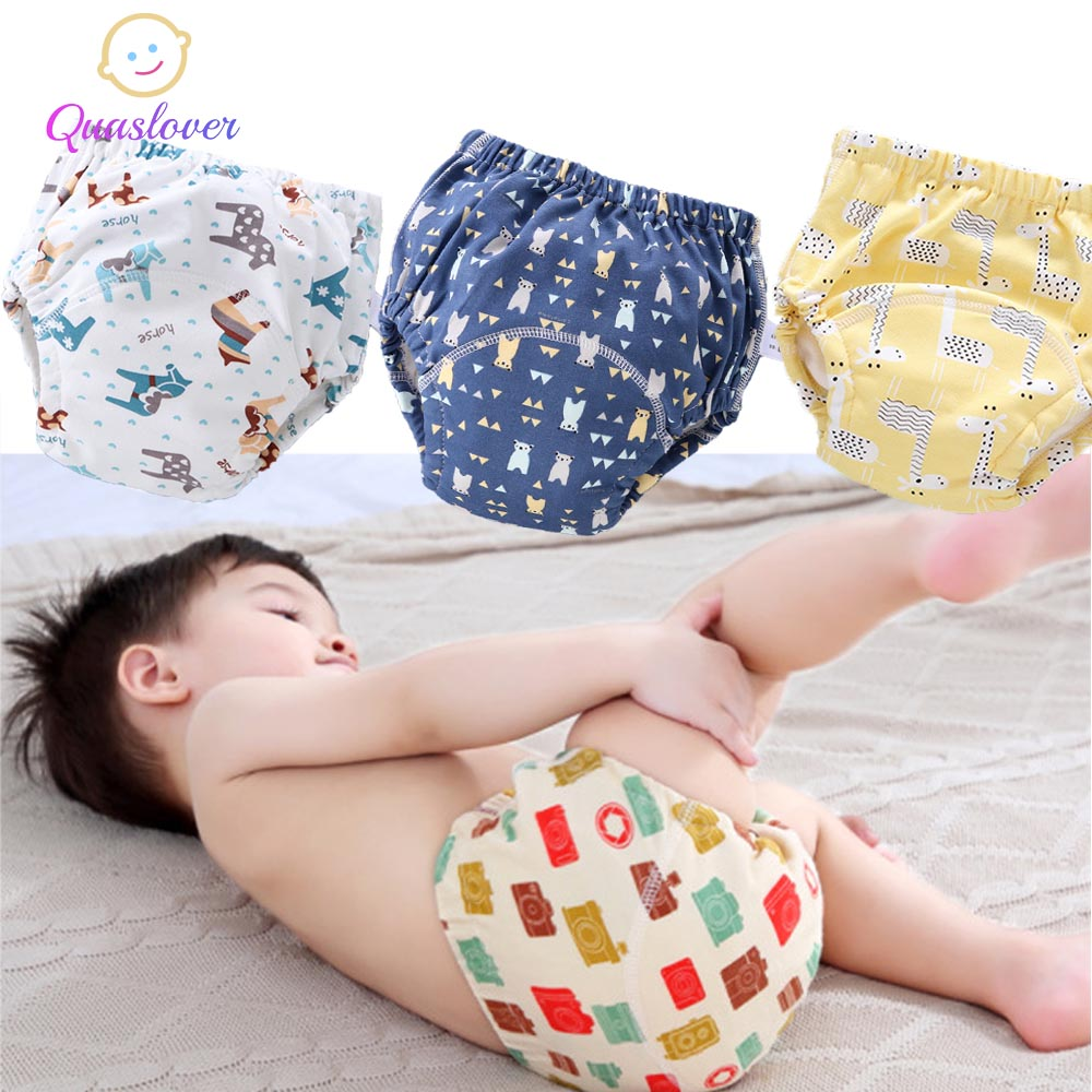 Baby girl infant training Pants panties Cloth Diapers kids big bow underwear GS