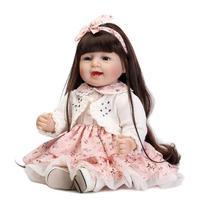 22 inch 55cm silicone reborn babies girl dolls baby real alive bonecas brinquedos menina children gift