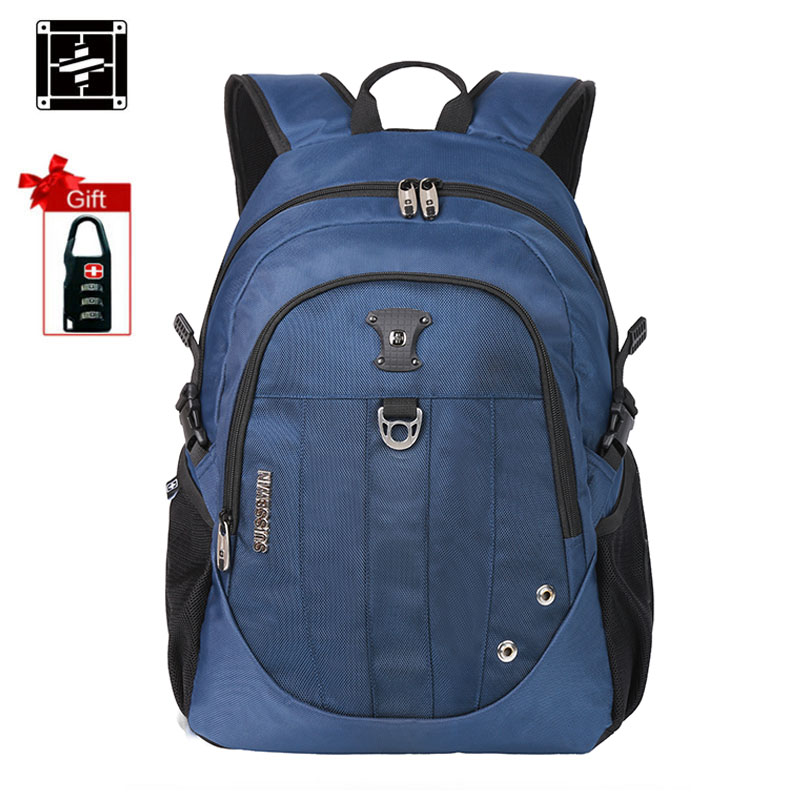 Suissewin Fashion School Bags for Teenage Girls Small Waterproof Backpack Schoolbag Boys Bookbag mochila Korean Style Black Blue