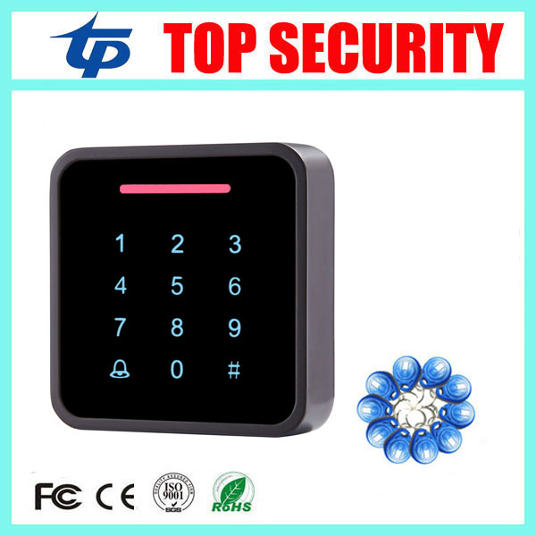ФОТО Good surface waterproof touch keypad 125KHZ proximity RFID EM card access control system standalone smart card access control
