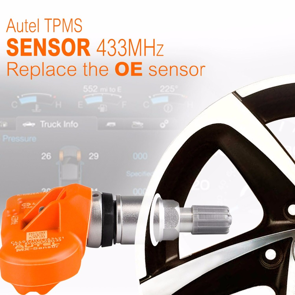 Image 3 - Autel 4PCS 433/315MHZ TPMS Sensor Diagnostic Tool MX Sensor TPMS Supports Tire Pressure Programming for OBD2 Scannar-in Pressure & Vacuum Testers from Automobiles & Motorcycles on