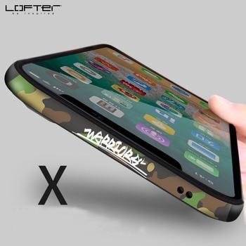 Camouflage di Alluminio Del Respingente per Apple fo iPhone X Custodie Del Telefono Struttura In Metallo con la Copertura Del Silicone Antiurto Del Fumetto Armatura Coque