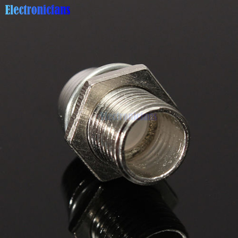 5PCS 5MM Chrome Silver Metal Bezel LED Holder Mount Panel Display Base Rubber