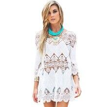 FGirl Women's t Shirt Crop Top Bohemian Crochet Beach Tunic T-shirts for Women FG30555