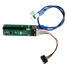 PCI-e express 1x to 16x mining Extender Riser Card with Power Supply&USB 3.0 cable for BTC Miner Machine
