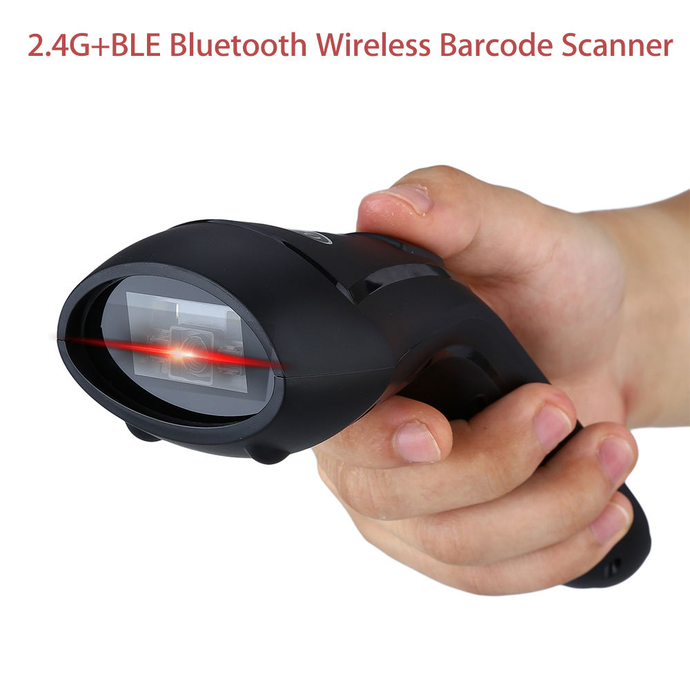 CILICO CT80 Handheld 2.4G+BLE Bluetooth Wireless 2D Barcode Scanner Screen Scanning Mini USB Reader for Android/IOS/Windows 2d wireless barcode area imaging scanner 2d wireless barcode gun for supermarket pos system and warehouse dhl express logistic
