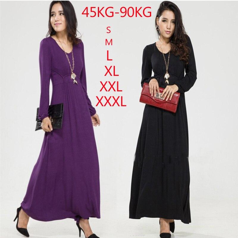 2018 Autumn and Winter Women Plus size Fashion Full Dress ...