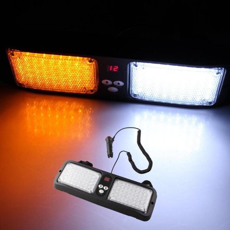 10001 free shipping 86LED LED Waterproof Car Strobe Flash Light Emergency 12 Flashing Modes Diameter DC 12V Car LED Lights