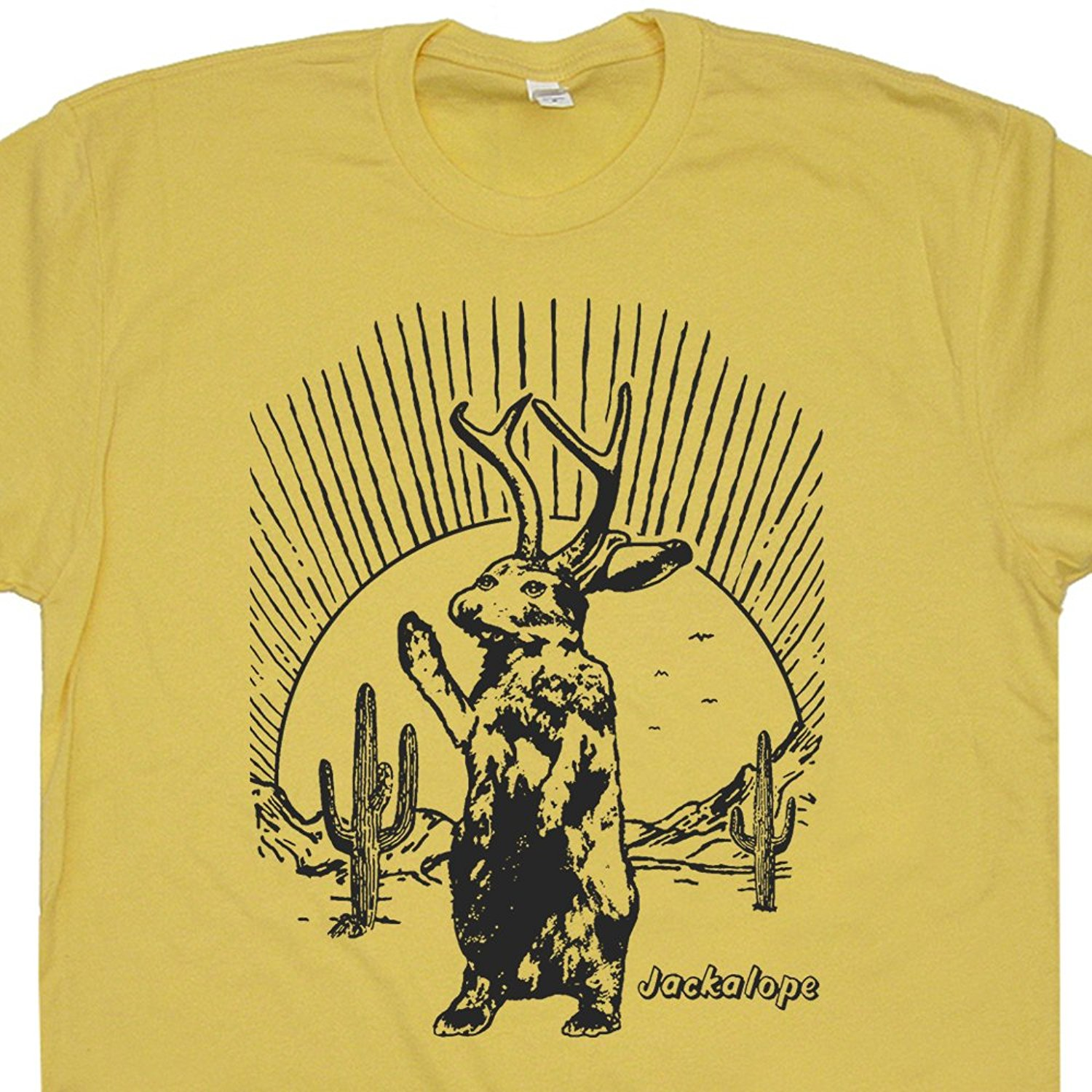 4dd6f55b T Shirt Short Sleeve Jackalope T Shirt Funny Mythical Creature Roswell New  Mexico Neil Area Young